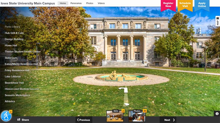 Virtual Tour of Iowa State Campus